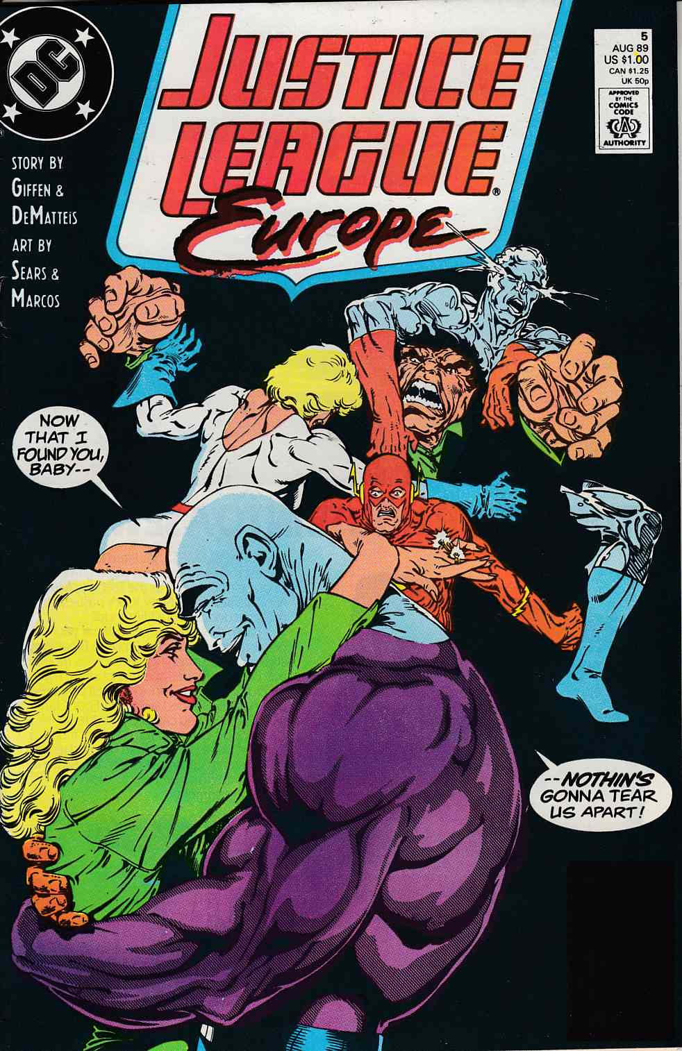 Justice League Europe #5 Fine/Very Fine (7.0) [DC Comic]_THUMBNAIL