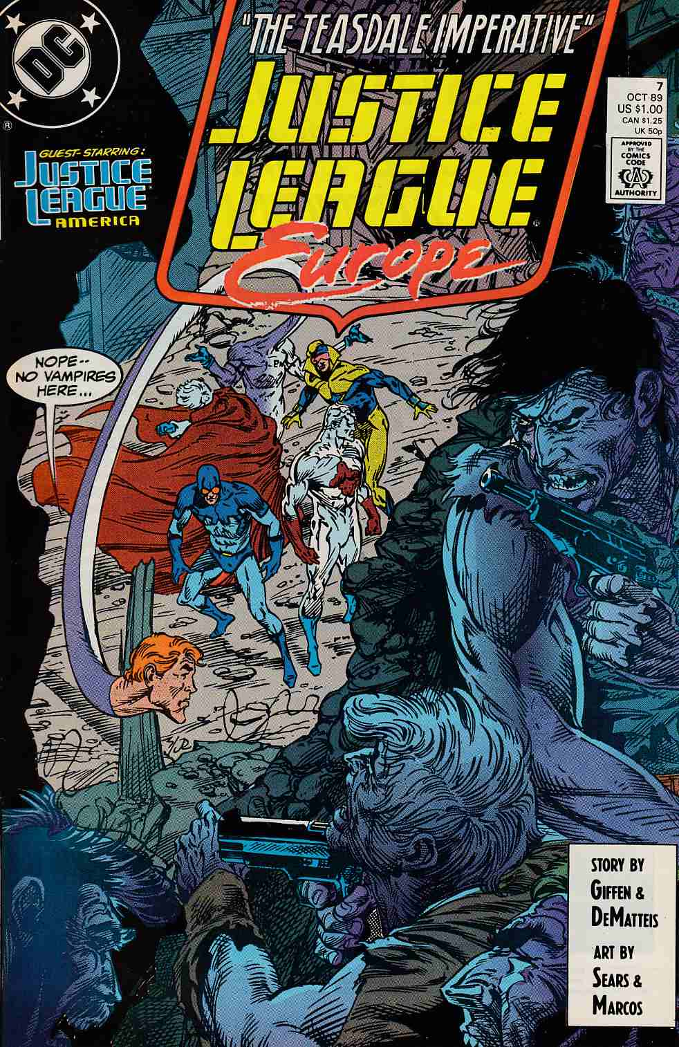 Justice League Europe #7 Very Fine/Near Mint (9.0) [DC Comic]_THUMBNAIL