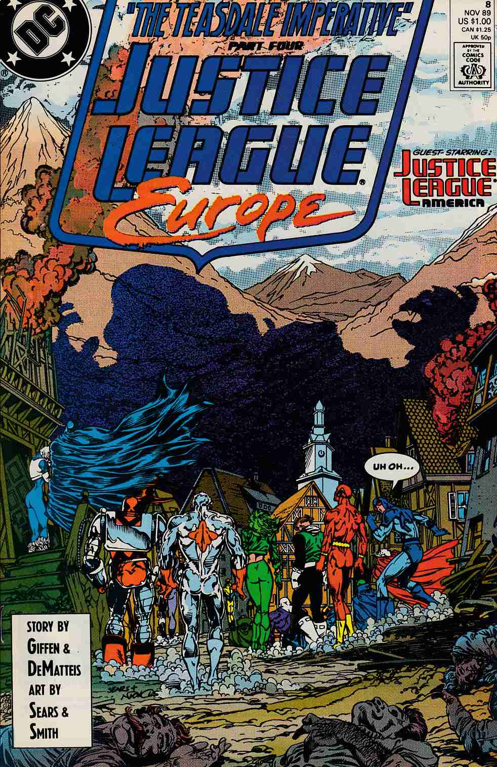 Justice League Europe #8 Near Mint (9.4) [DC Comic] LARGE