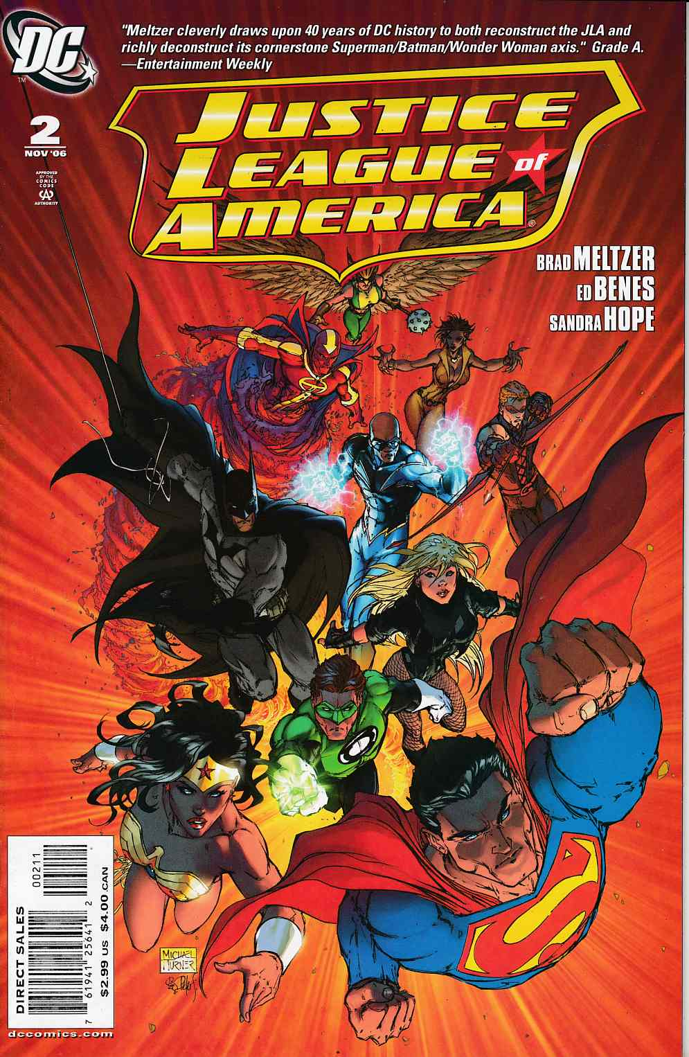 Justice League of America #2 Cover A Near Mint (9.4) [DC Comic] THUMBNAIL