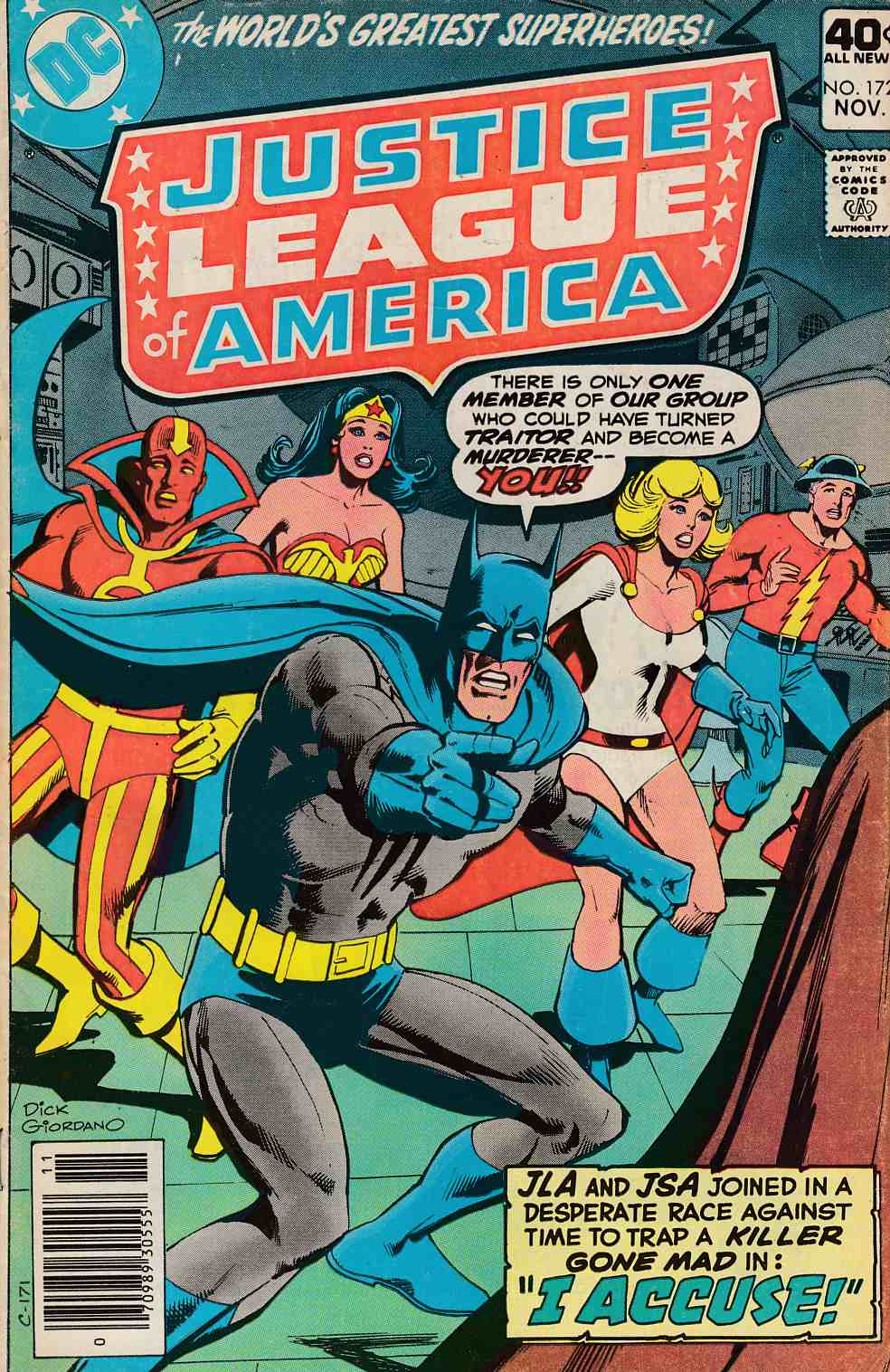 Justice League of America #172 Very Good (4.0) [DC Comic]_THUMBNAIL