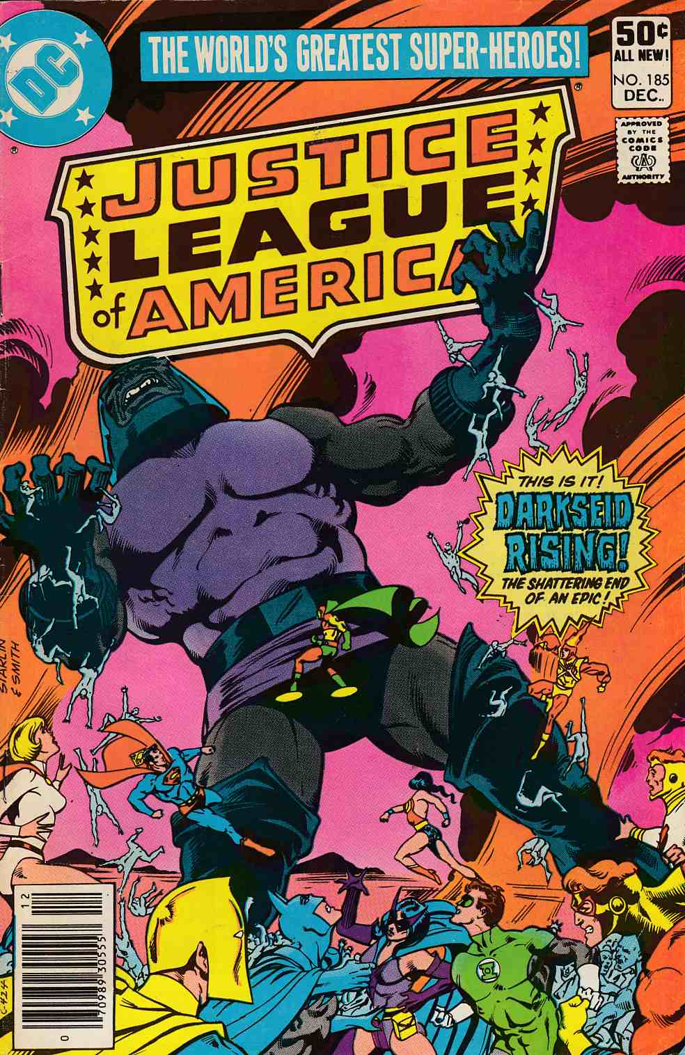Justice League Of America #185 Newsstand Edition Very Good (4.0) [DC Comic]_THUMBNAIL