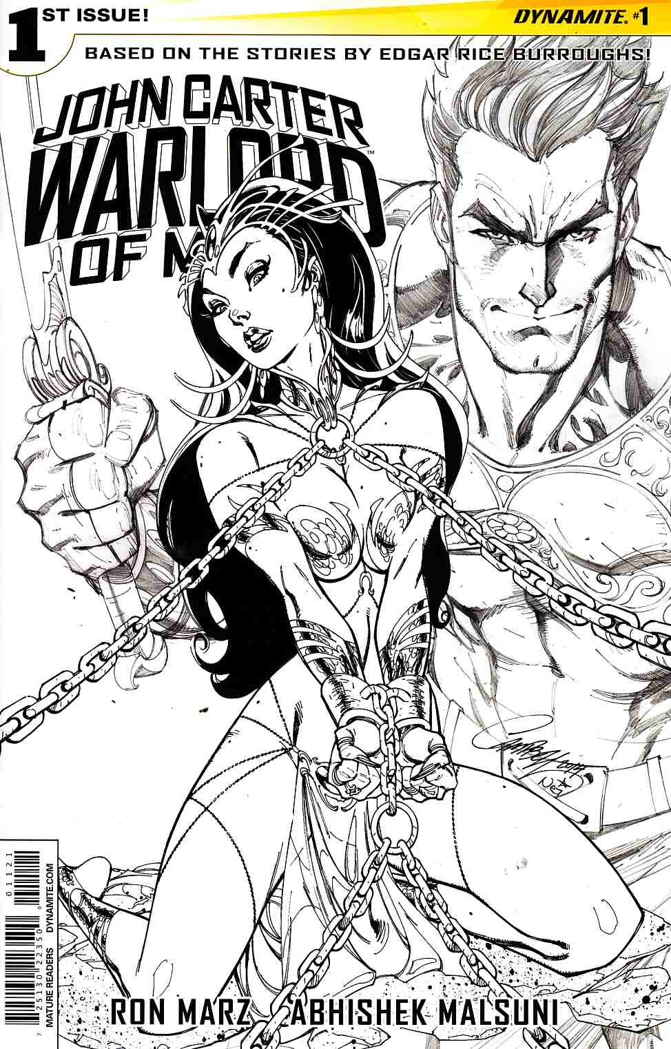 John Carter Warlord #1 Cover L- Campbell Sketch Incentive [Comic]_THUMBNAIL
