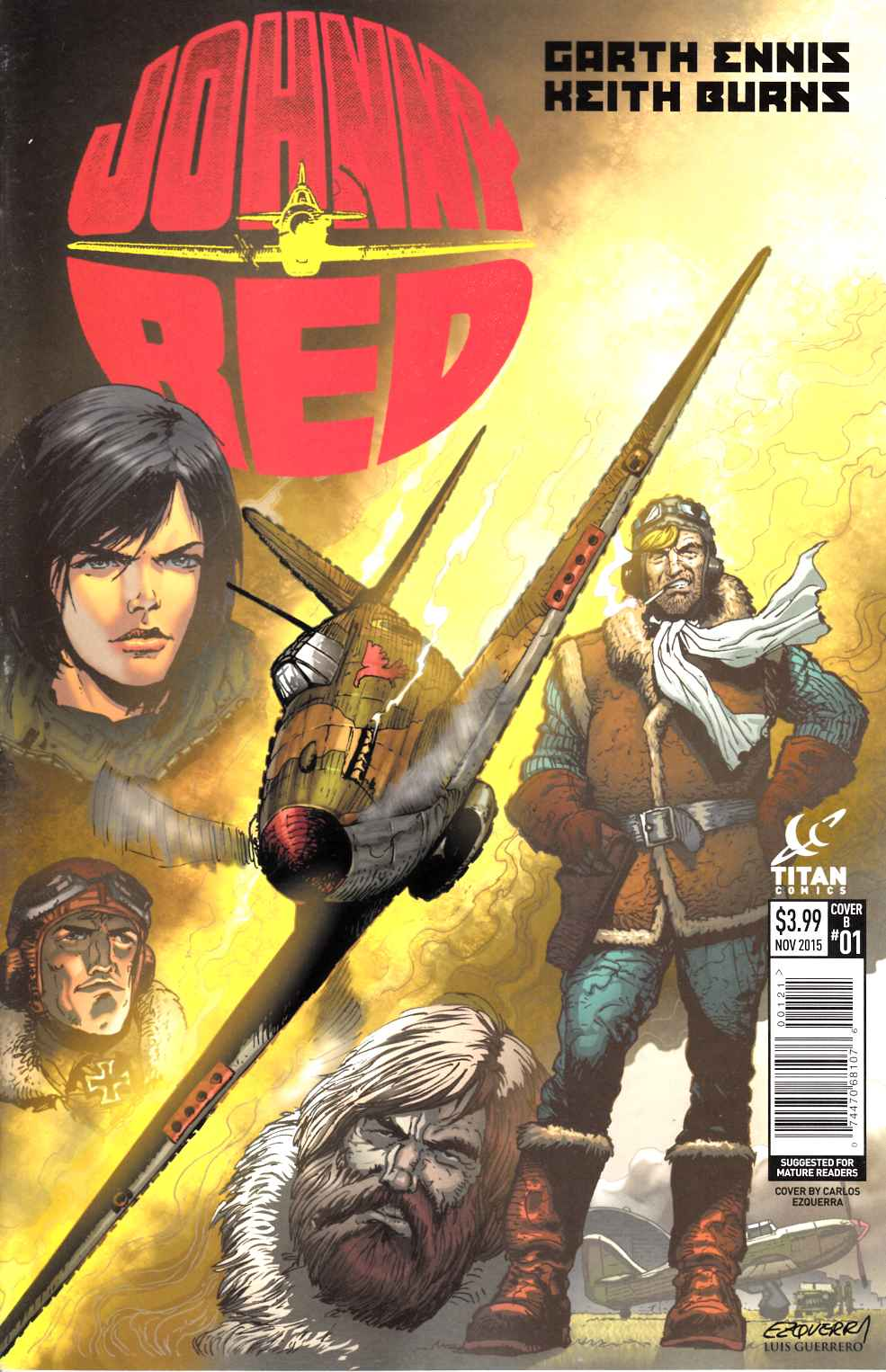 Johnny Red #1 Esquerra Subscription Cover [Titan Comic] THUMBNAIL