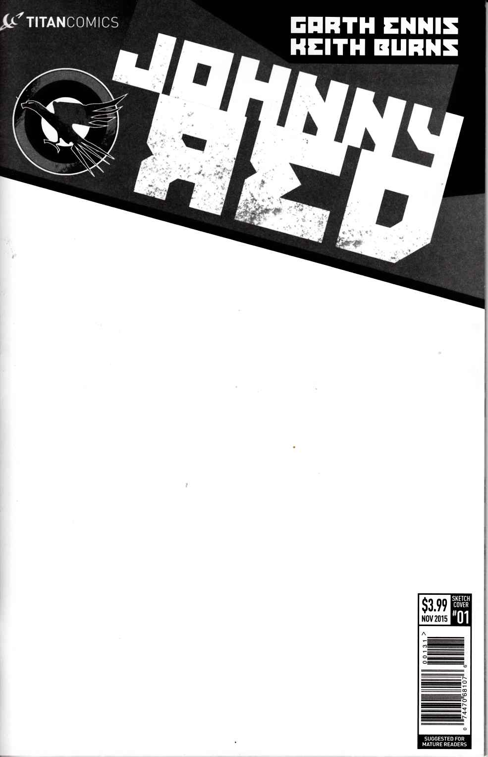 Johnny Red #1 Blank Sketch Variant Cover [Titan Comic] THUMBNAIL