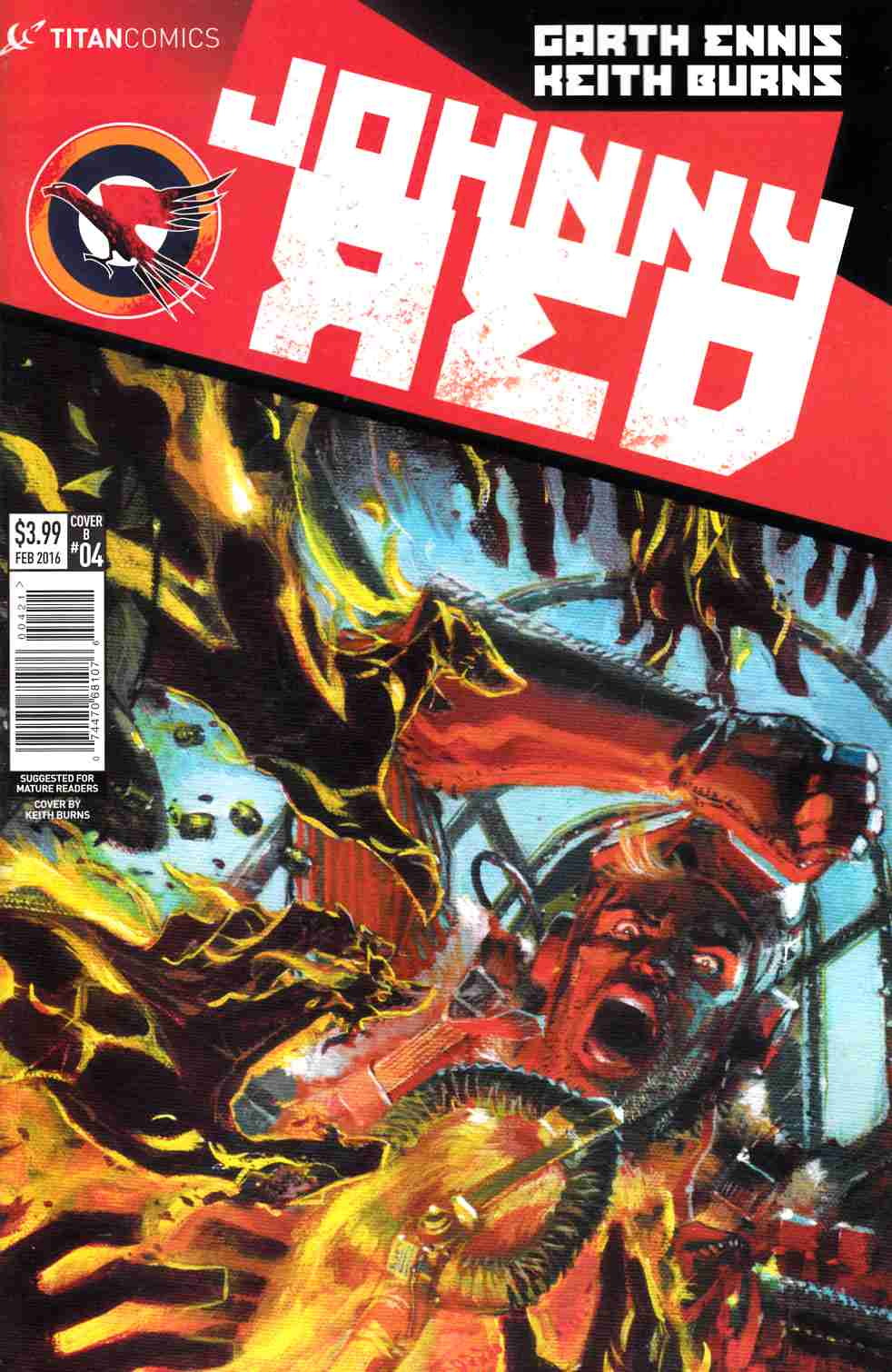 Johnny Red #4 Cover B- Burns [Titan Comic] THUMBNAIL