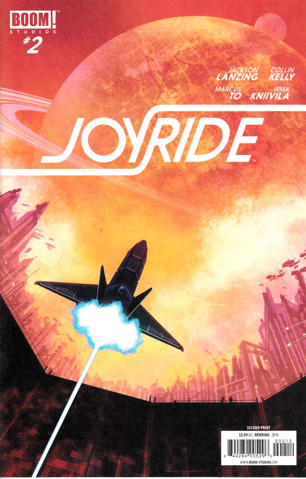 Joyride #2 Second Printing [Boom Comic] THUMBNAIL