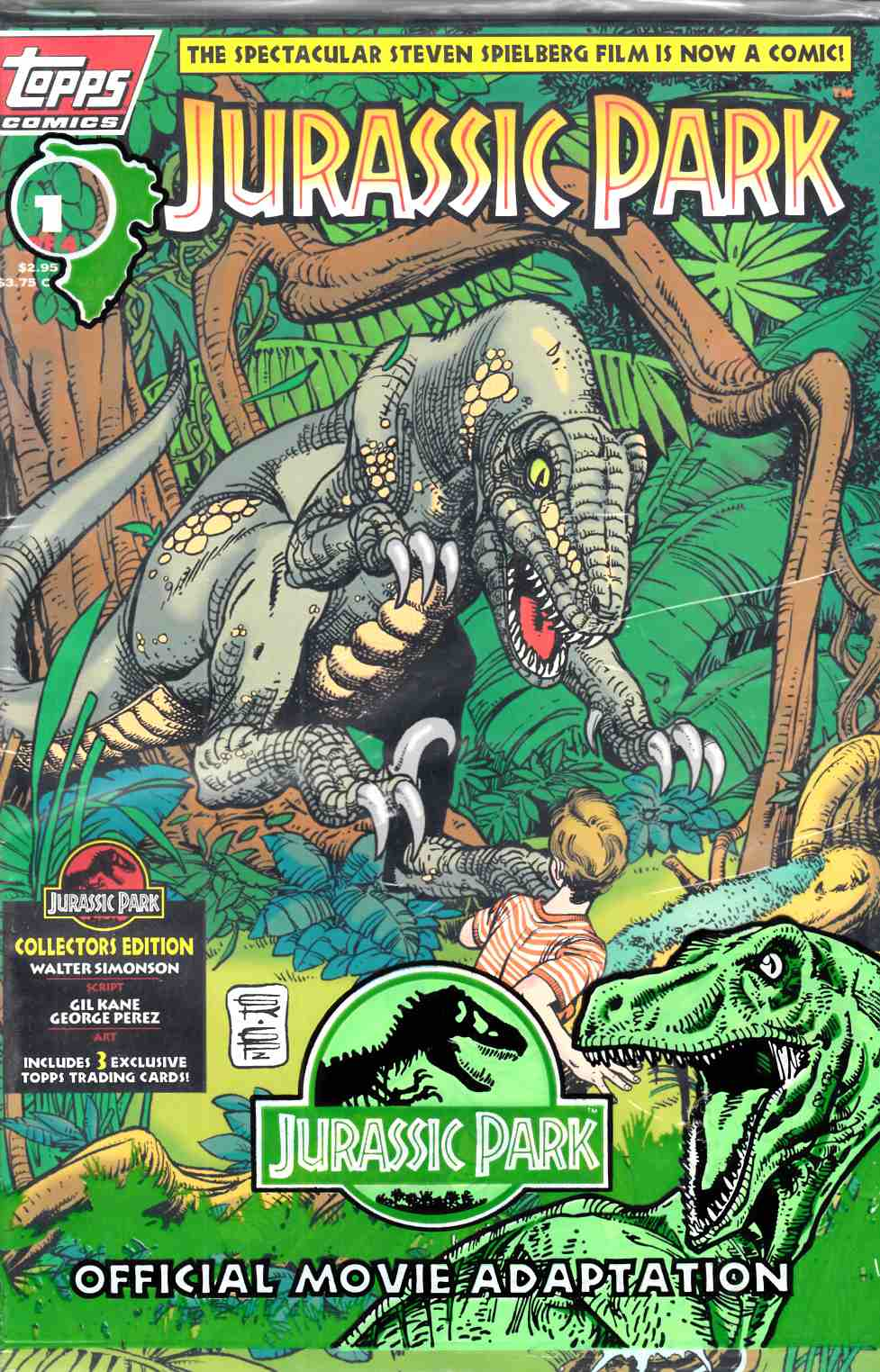 Jurassic Park #1 Polybagged  Near Mint (9.4) [Topps Comic] THUMBNAIL