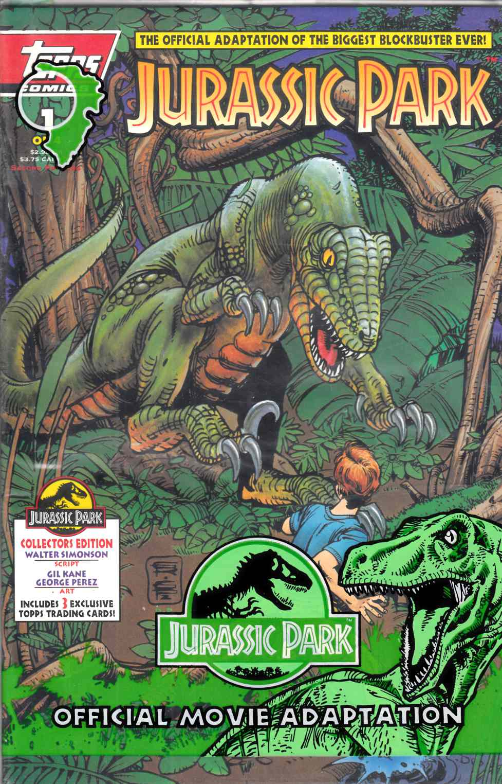 Jurassic Park #1 Second Printing Polybagged Near Mint (9.4) [Topps Comic] THUMBNAIL