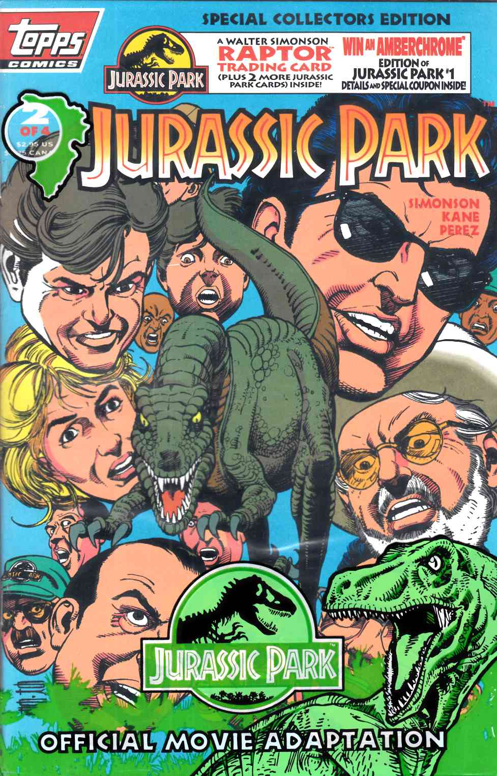 Jurassic Park #2 Polybagged Near Mint (9.4) [Topps Comic] THUMBNAIL
