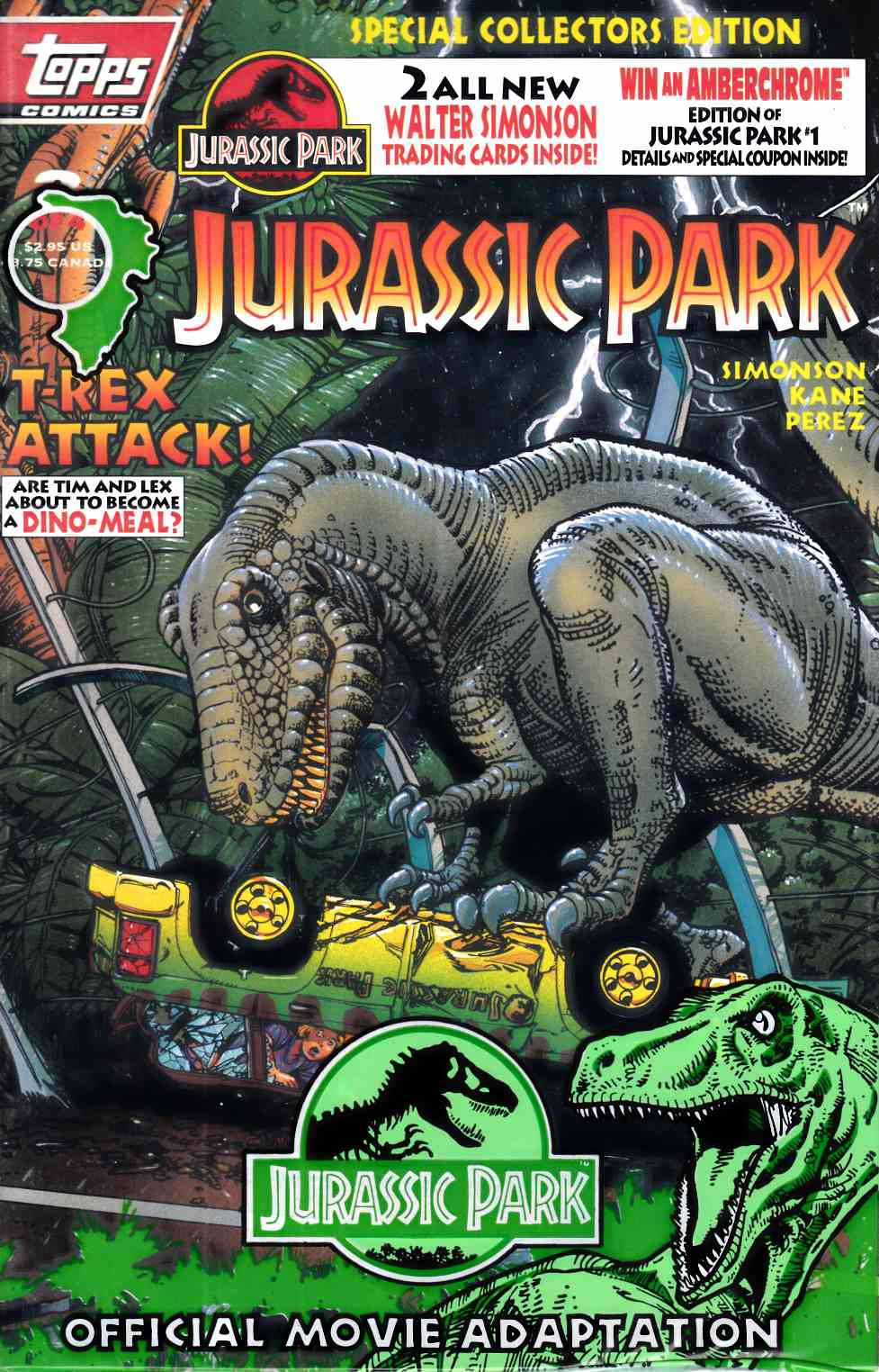 Jurassic Park #3 Polybagged Near Mint (9.4) [Topps Comic] THUMBNAIL
