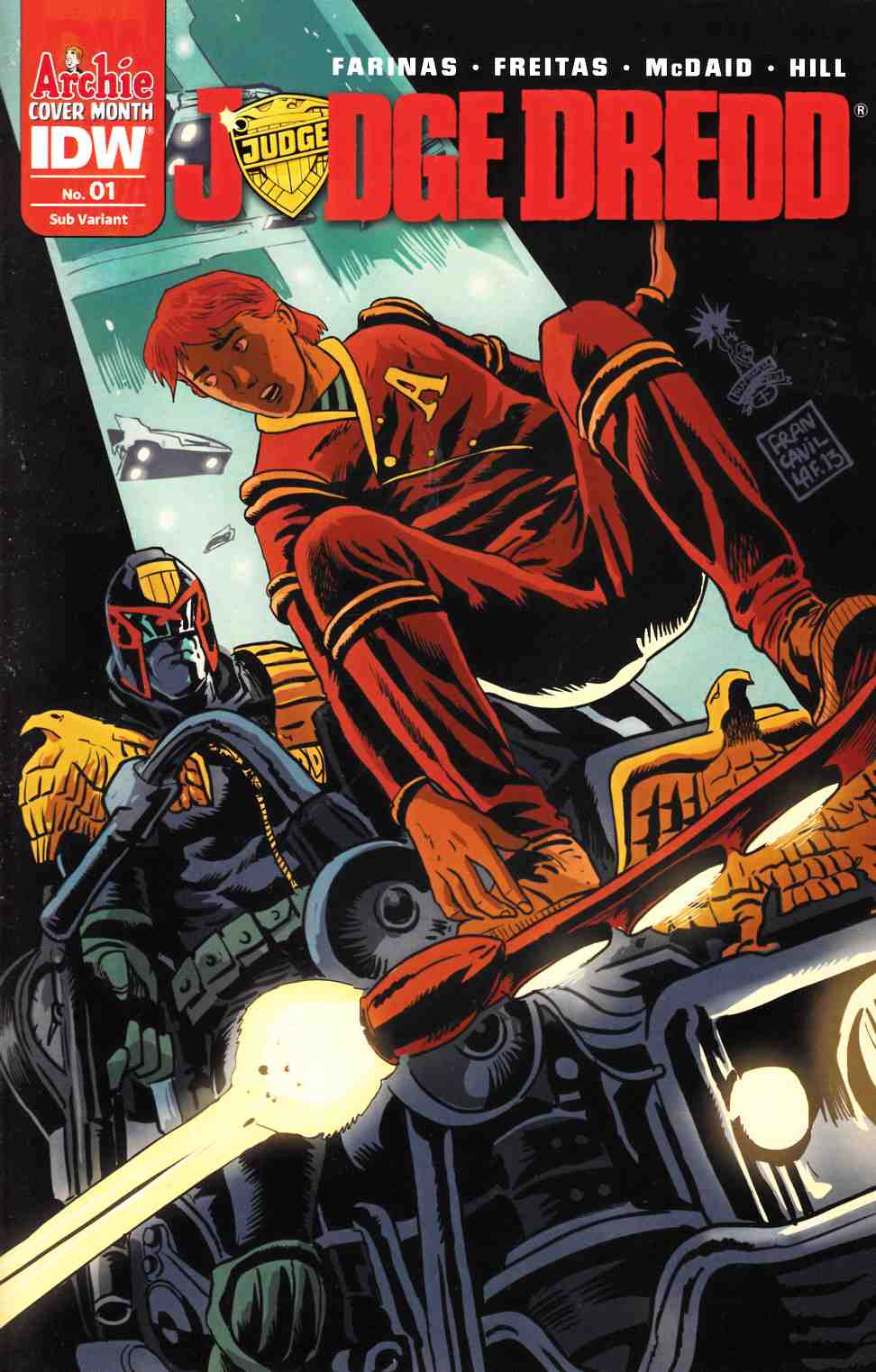 Judge Dredd (Ongoing) #1 Archie 75th Anniversary Variant Cover [IDW Comic] THUMBNAIL