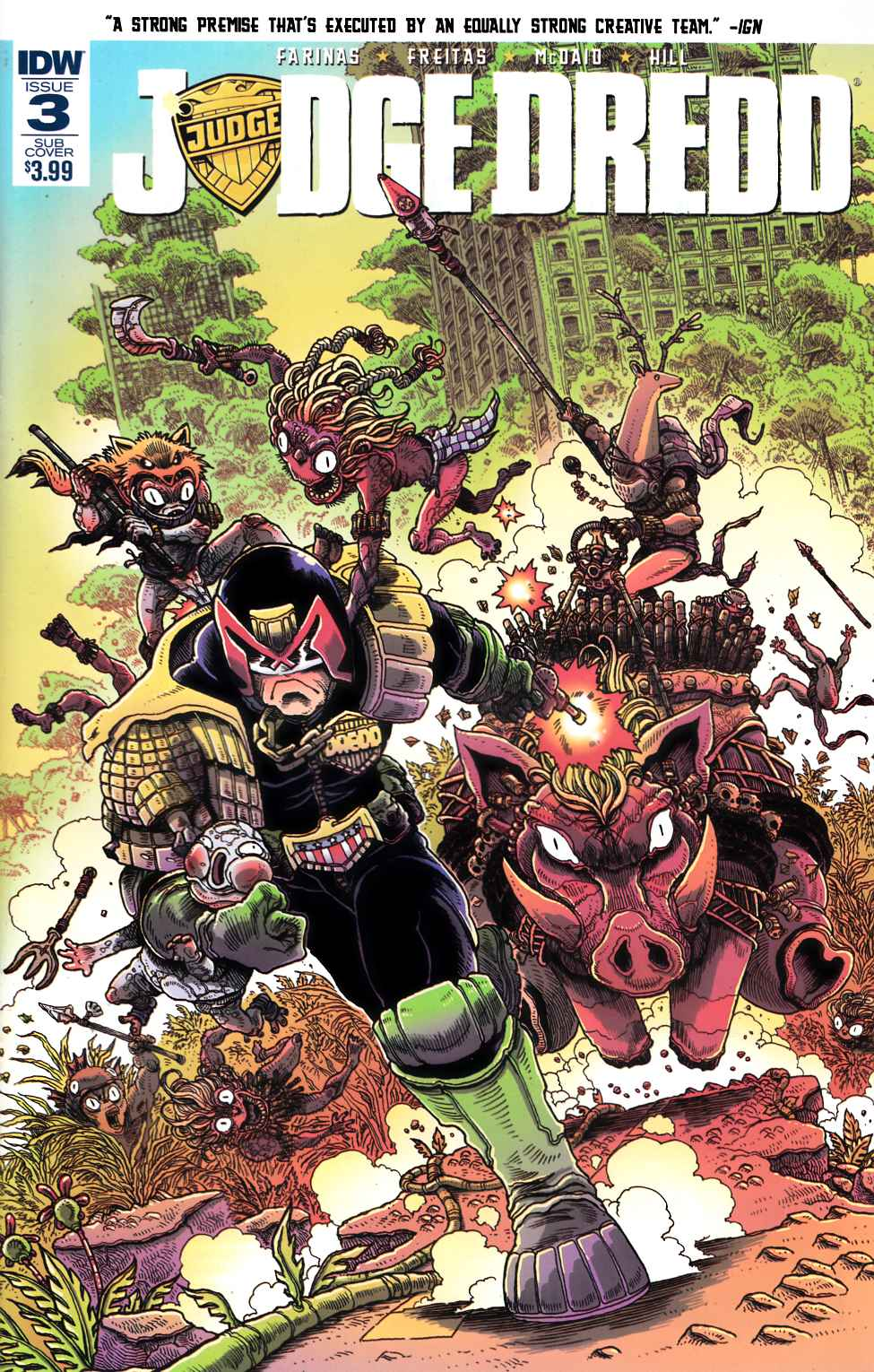 Judge Dredd (Ongoing) #3 Subscription Cover [IDW Comic] THUMBNAIL