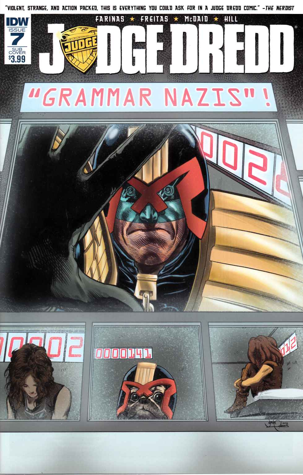 Judge Dredd (Ongoing) #7 Subscription Cover [IDW Comic] THUMBNAIL