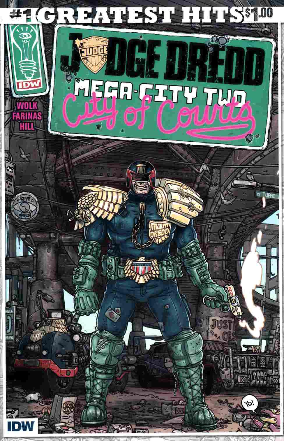Judge Dredd Mega-City Two #1 IDW Greatest Hits [IDW Comic]