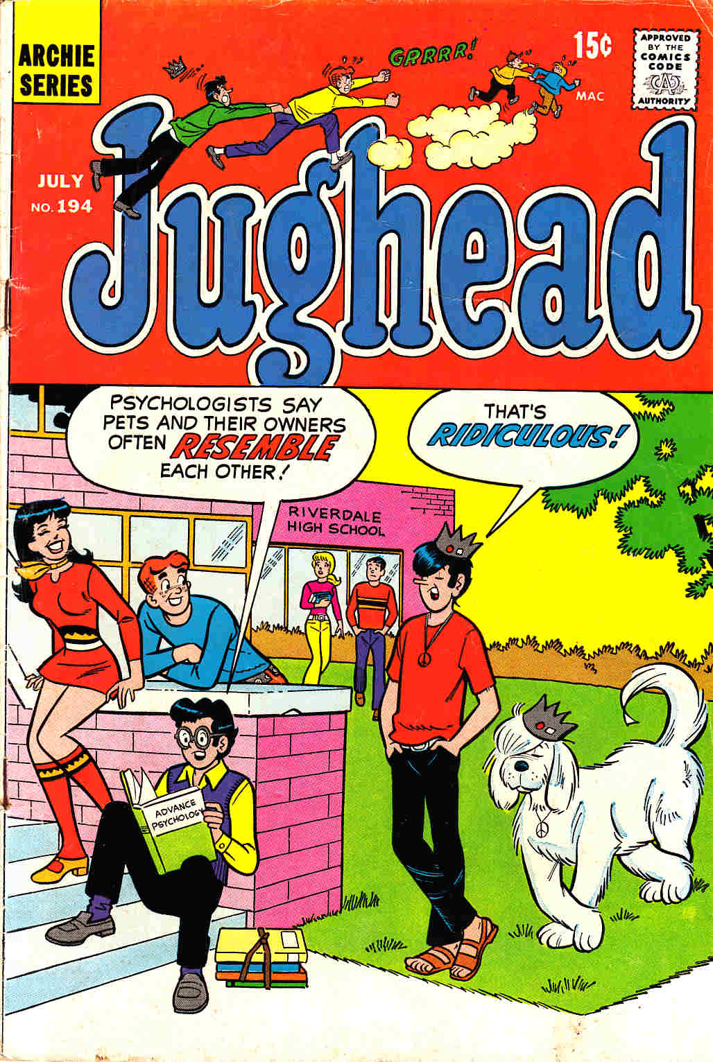 Jughead #194 Very Good (4.0) [Archie Comic] LARGE