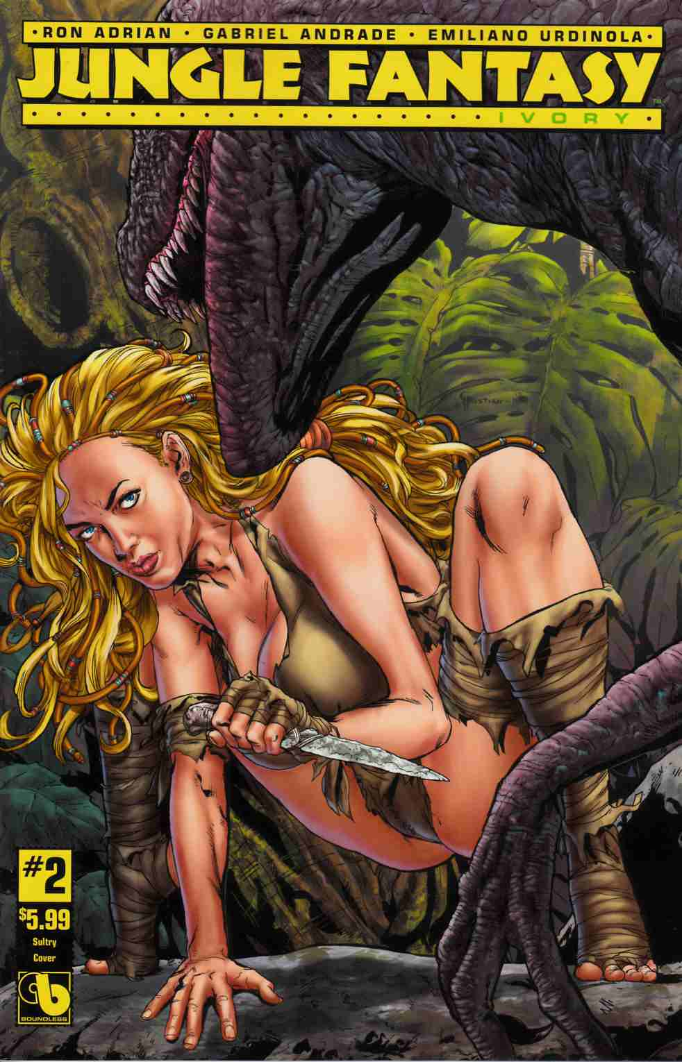 Jungle Fantasy Ivory #2 Sultry Cover [Boundless Comic] LARGE