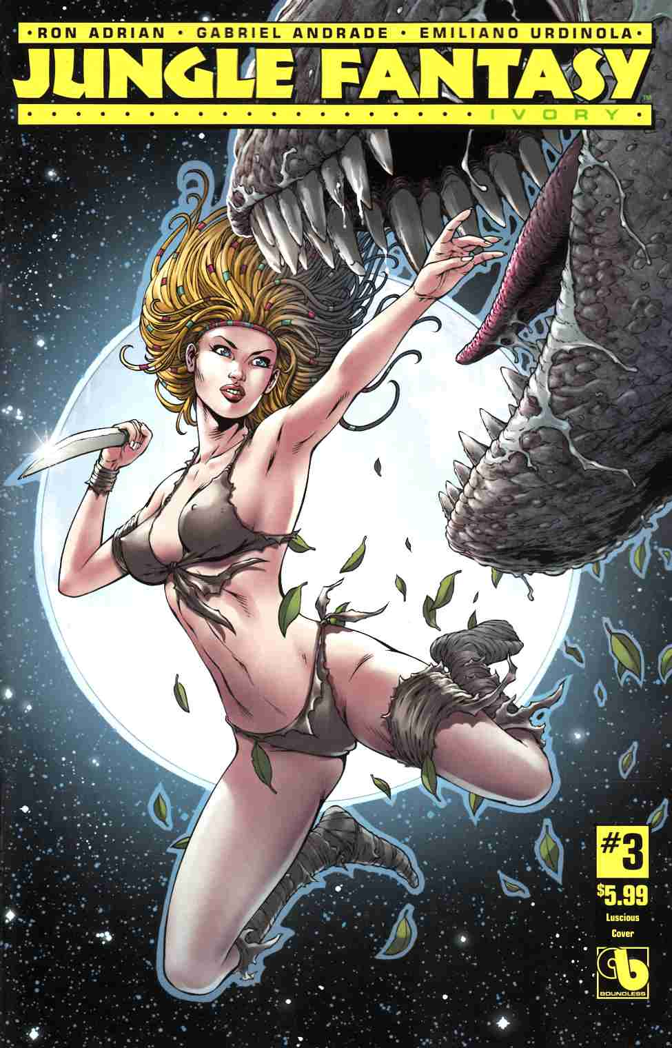 Jungle Fantasy Ivory #3 Luscious Cover [Boundless Comic] LARGE