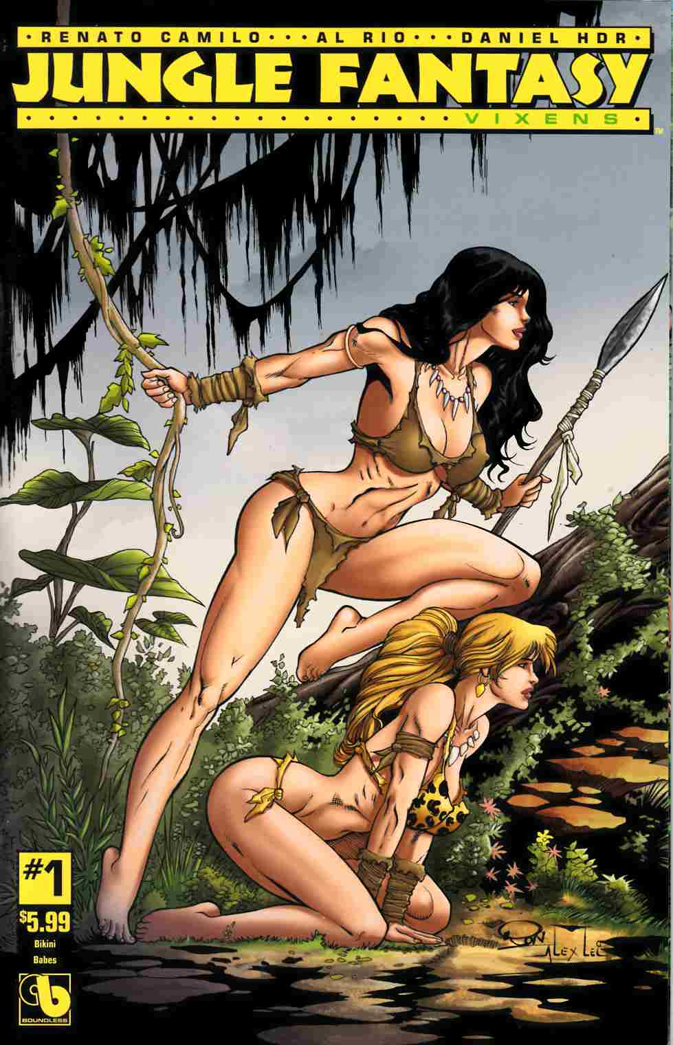 Jungle Fantasy Vixens #1 Bikini Babes Cover [Boundless Comic] LARGE