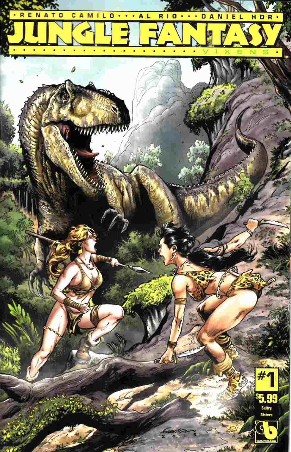 Jungle Fantasy Vixens #1 Sultry Sisters Cover [Boundless Comic] THUMBNAIL