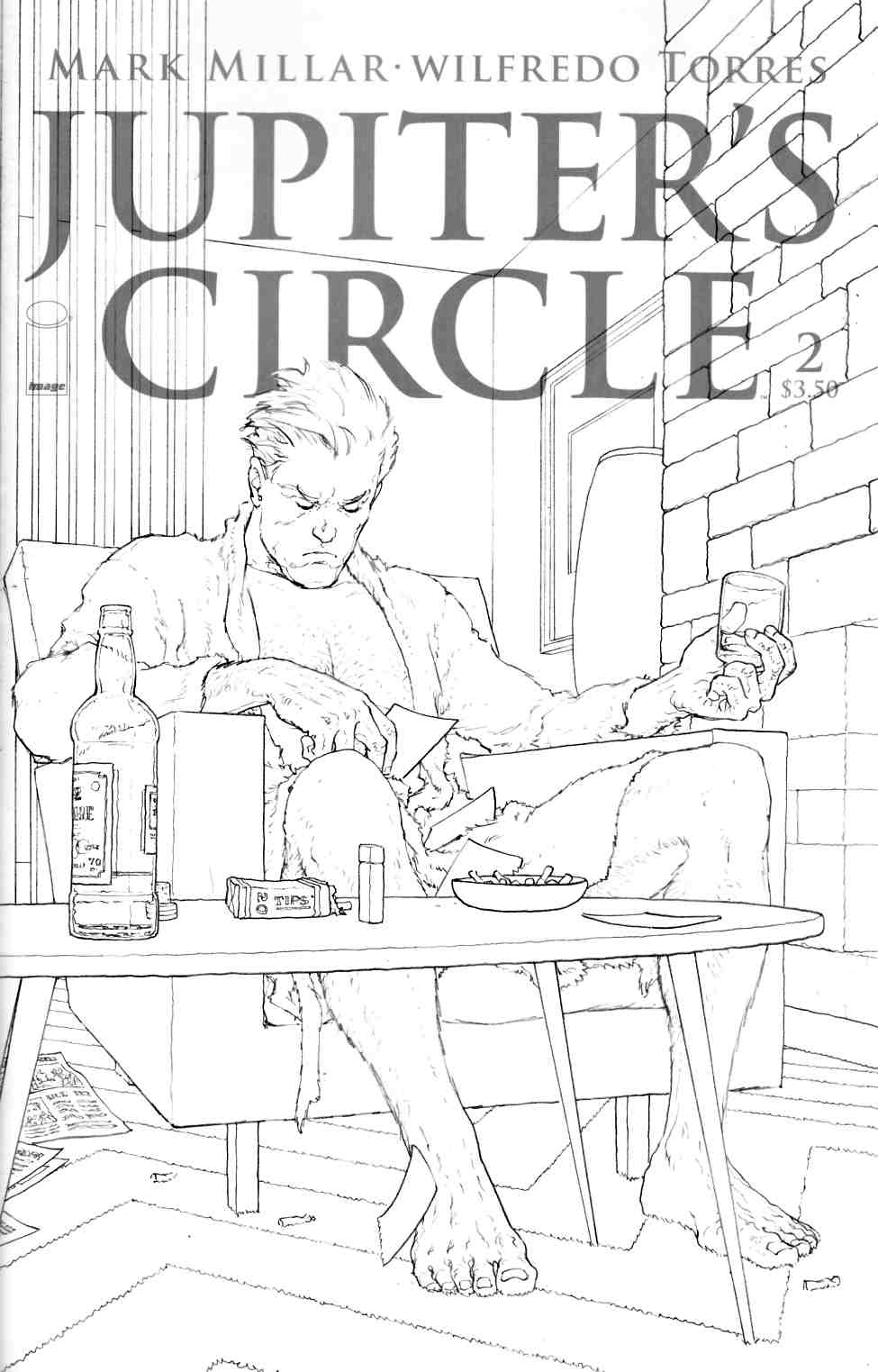 Jupiters Circle #2 Cover C- Quitely Black & White Cover [Image Comic]