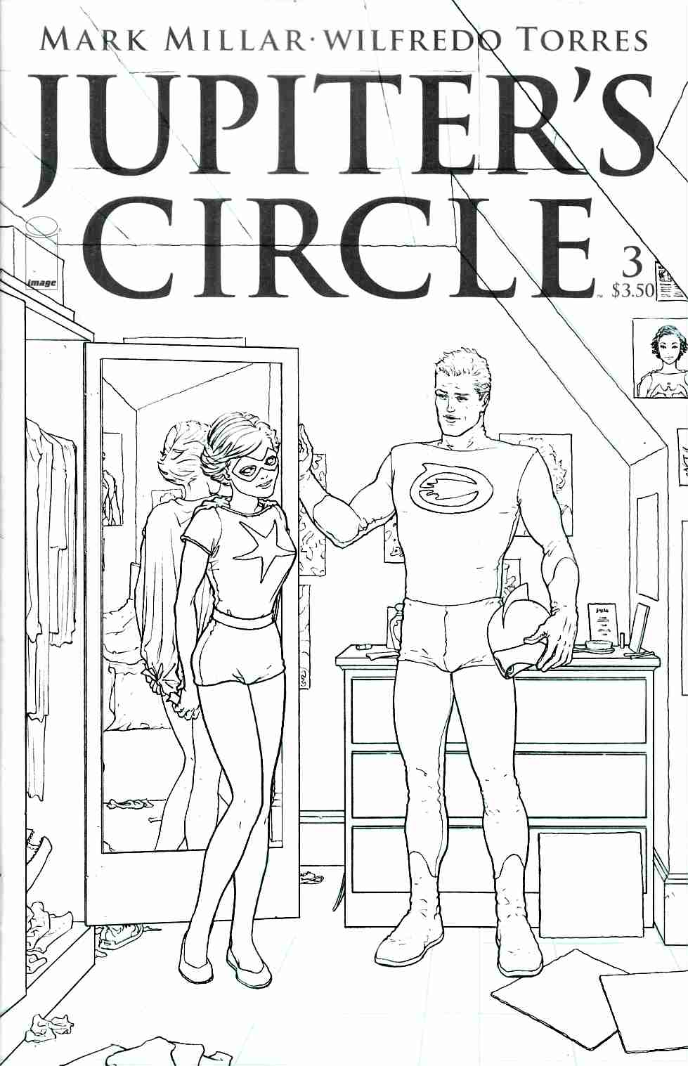 Jupiters Circle #3 Cover C- Quitely Black & White [Image Comic]