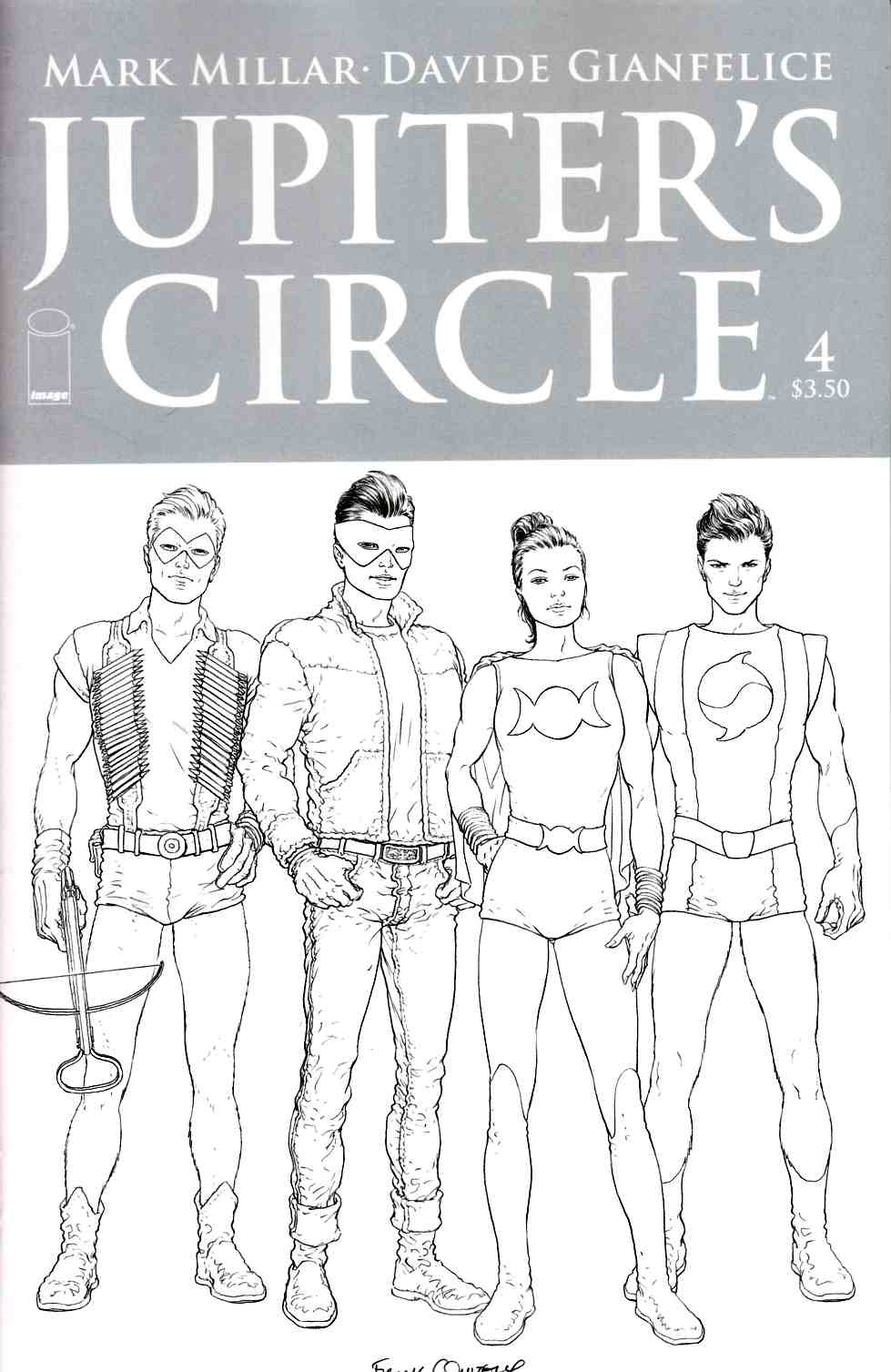 Jupiters Circle #4 Cover C- Quitely B&W Cover [Image Comic]
