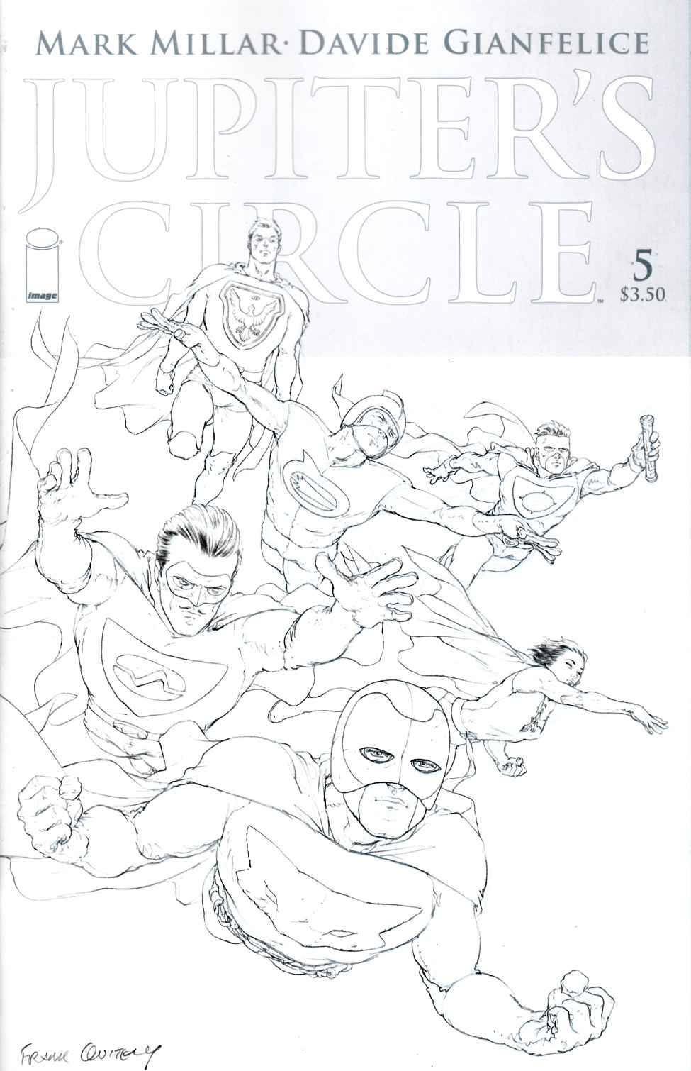 Jupiters Circle #5 Cover C- Quitely Black & White [Image Comic]