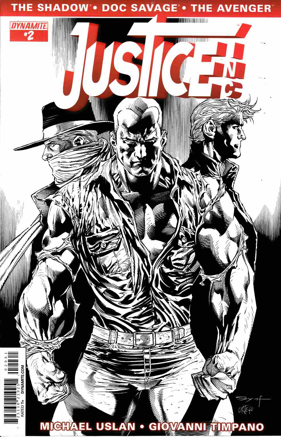 Justice Inc #2 Syaf B&W Incentive Cover [Comic] THUMBNAIL