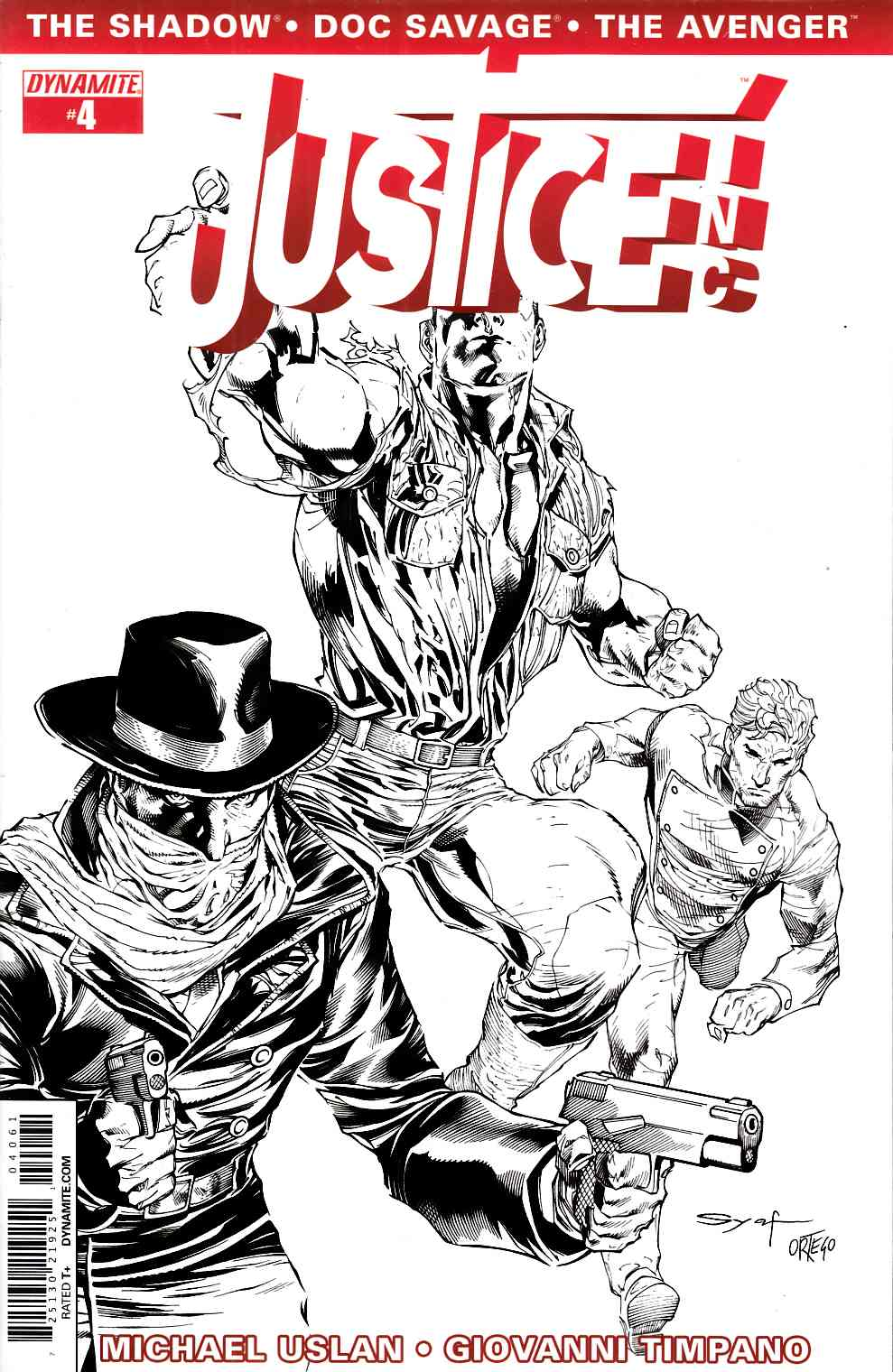 Justice Inc #4 Syaf B&W Cover [Dynamite Comic] THUMBNAIL