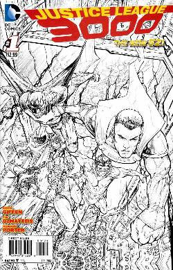 Justice League 3000 #1 B&W Incentive Cover [Comic] LARGE