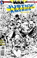 Justice League of America #6 Black & White Incentive Cover [Comic] THUMBNAIL