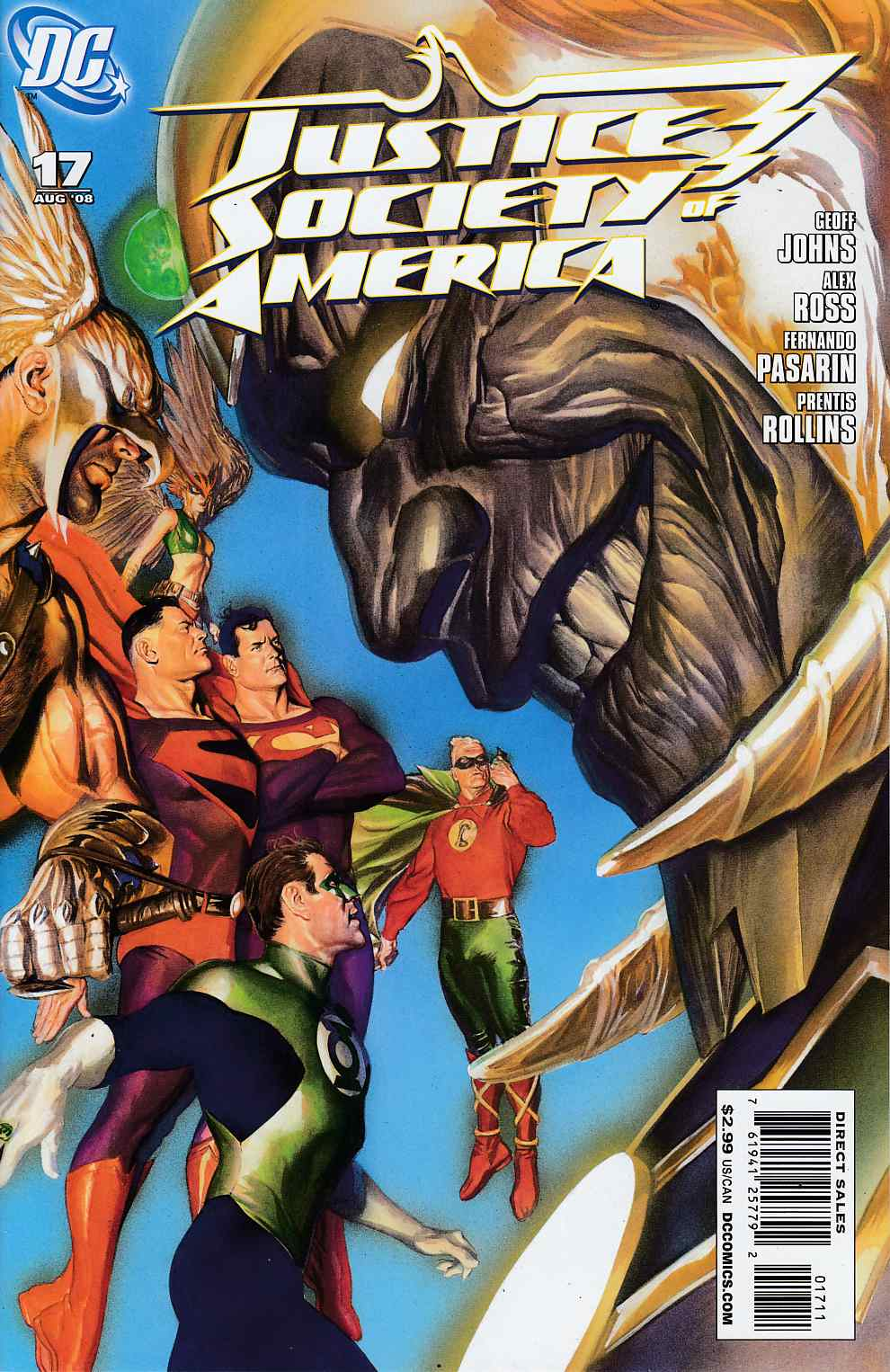 Justice Society of America #17 Near Mint (9.4) [DC Comic] LARGE