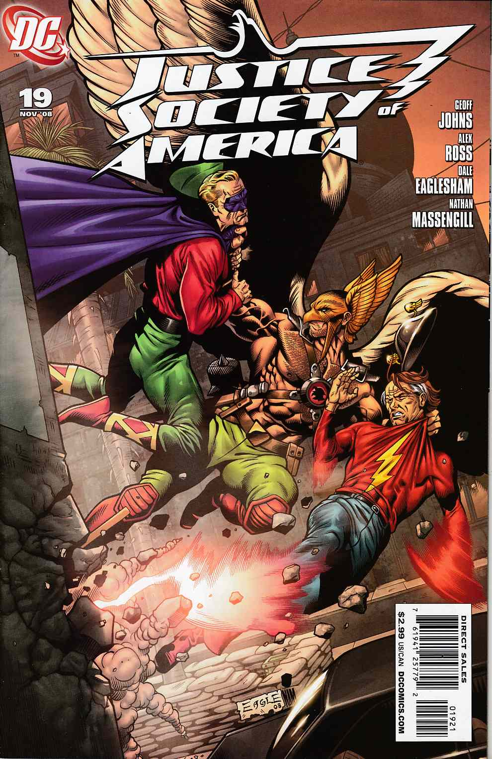 Justice Society of America #19 Eaglesham Variant Cover Near MInt (9.4) [DC Comic] THUMBNAIL