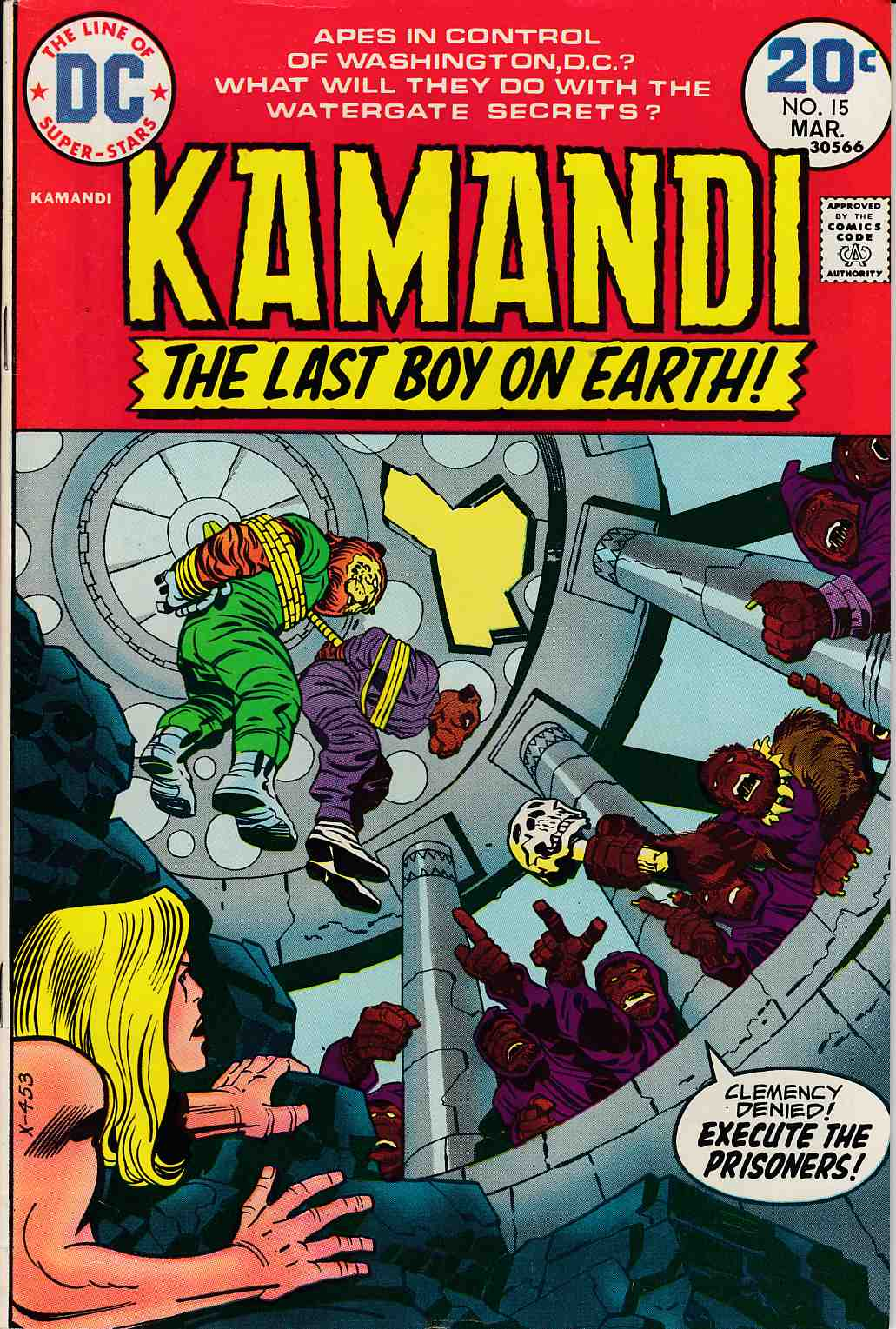Kamandi the Last Boy On Earth #15 Very Fine Minus (7.5) [DC Comic] LARGE