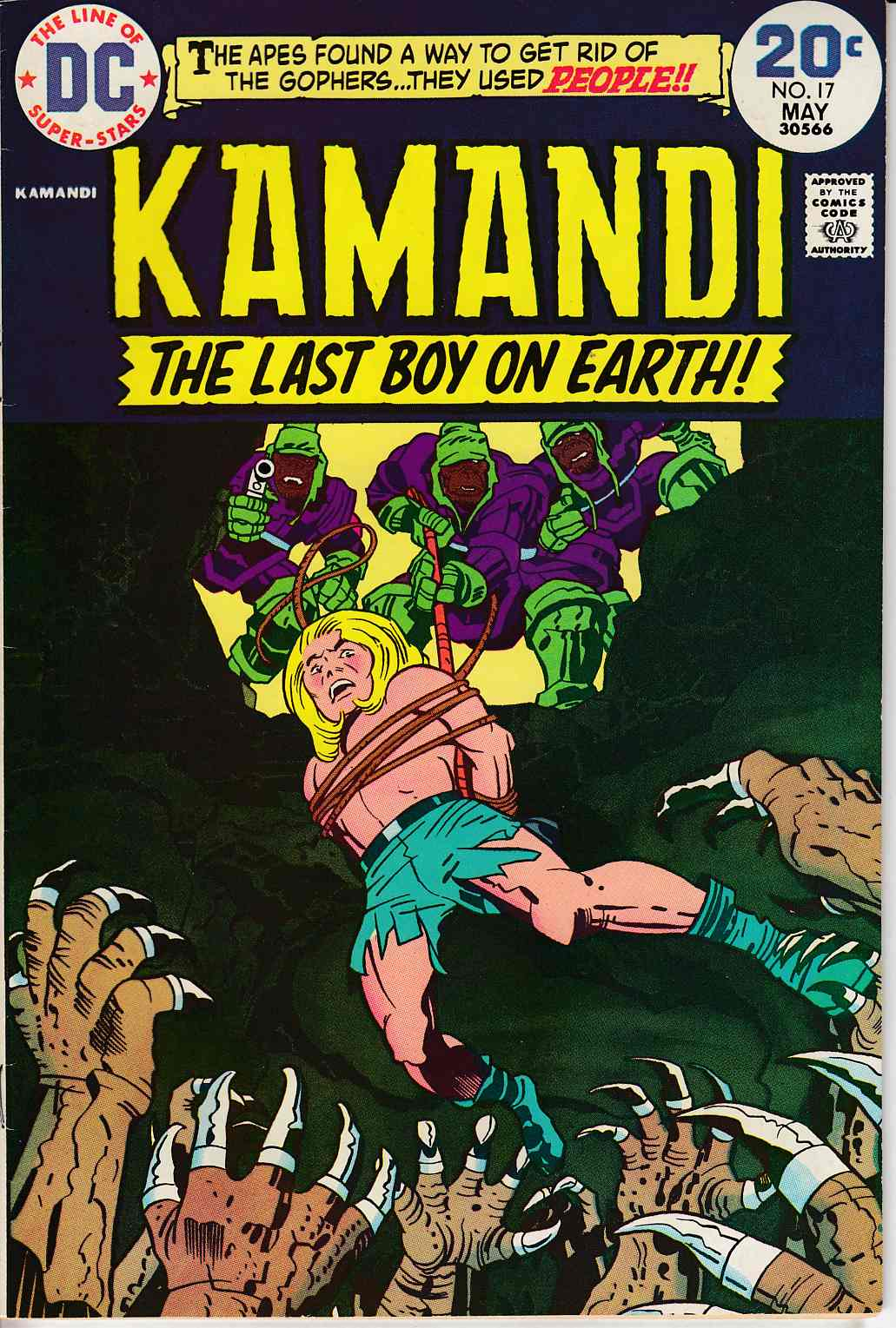 Kamandi the Last Boy On Earth #17 Very Fine Plus (8.5) [DC Comic]_LARGE