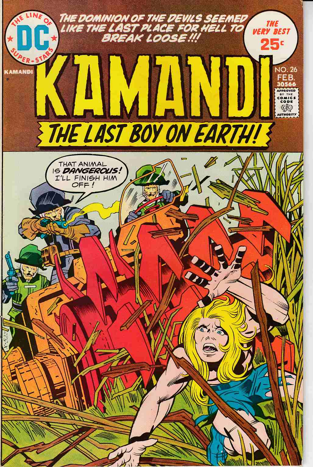 Kamandi the Last Boy On Earth #26 Very Fine (8.0) [DC Comic]_THUMBNAIL
