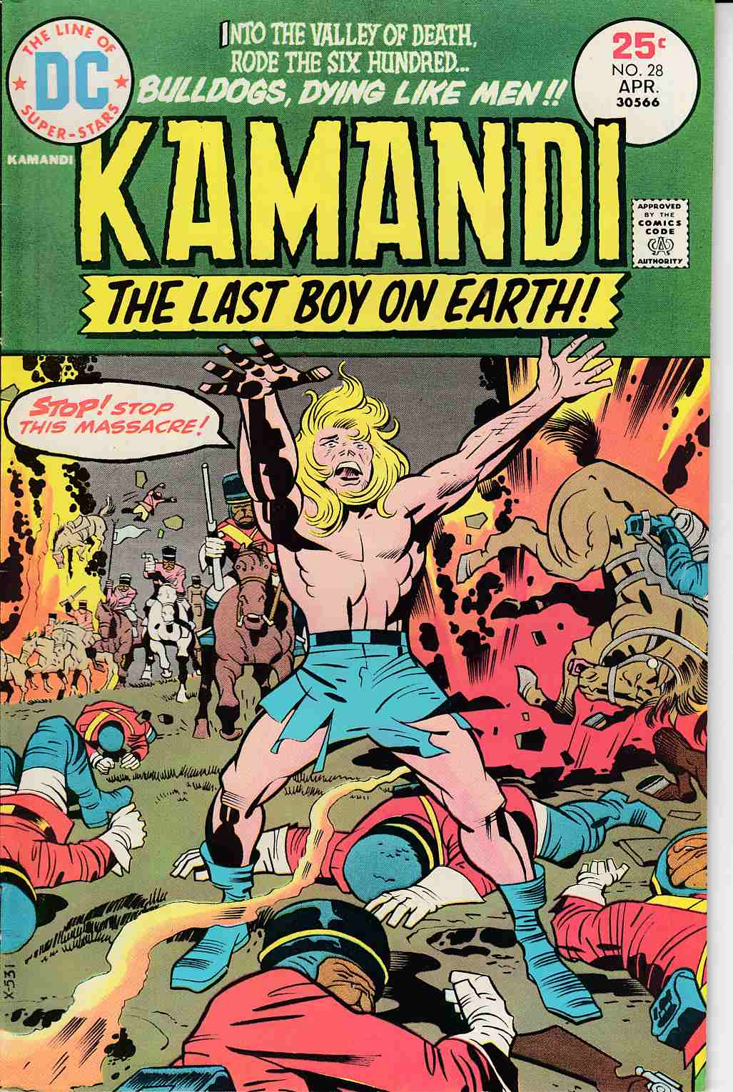 Kamandi the Last Boy On Earth #28 Very Fine/Near Mint (9.0) [DC Comic]_THUMBNAIL