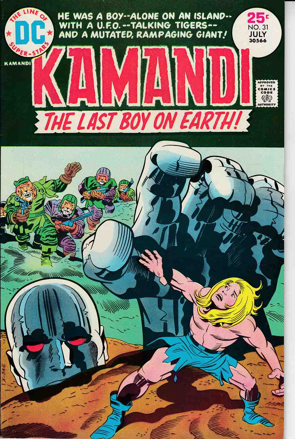 Kamandi the Last Boy On Earth #31 Very Fine (8.0) [DC Comic]_THUMBNAIL