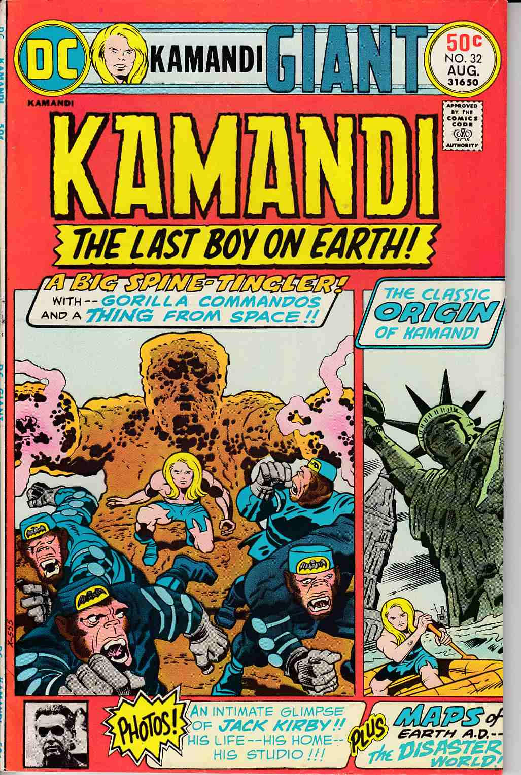 Kamandi the Last Boy On Earth #32 Very Fine Minus (7.5) [DC Comic]_THUMBNAIL