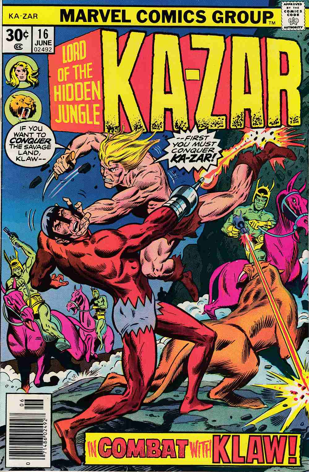 Ka-Zar #16 Fine (6.0) [Marvel Comic] THUMBNAIL