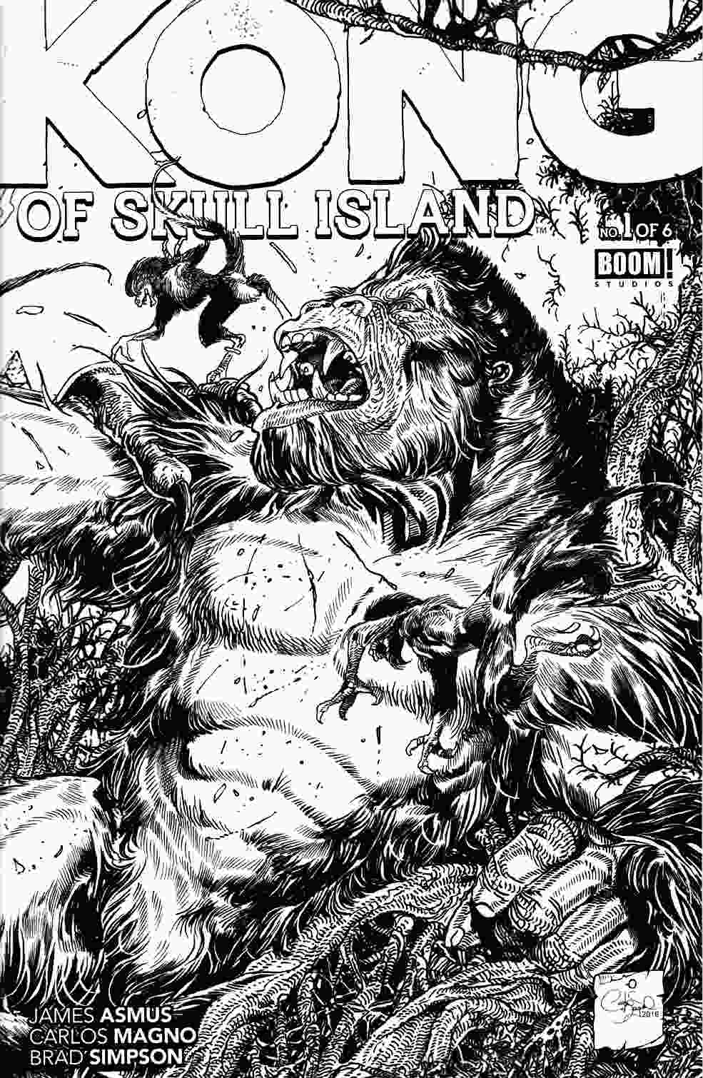 Kong of Skull Island #1 FOC Incentive Coloring Cover [Boom Comic] THUMBNAIL