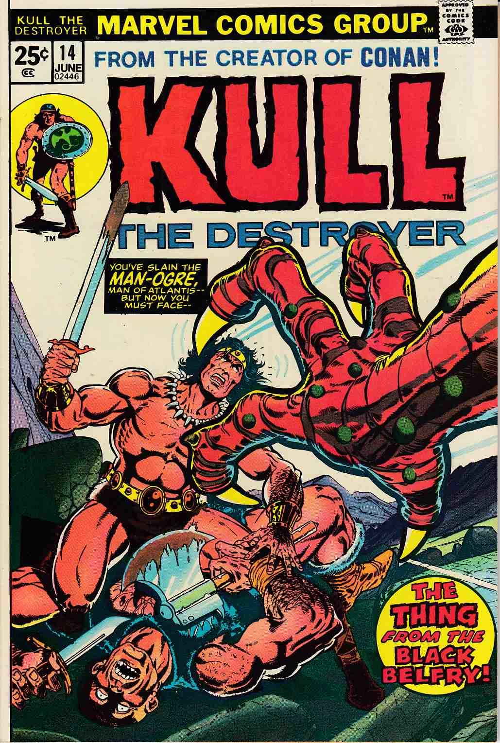 Kull The Conqueror #14 Very Fine/Near Mint (9.0) [Marvel Comic] LARGE