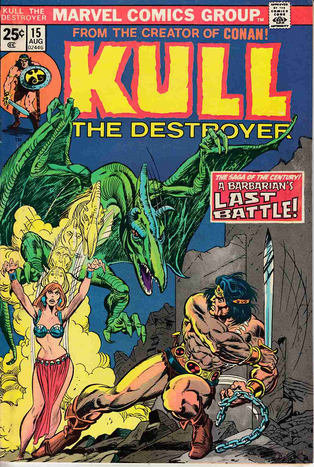 Kull The Conqueror #15 Very Fine (8.0) [Marvel Comic] LARGE