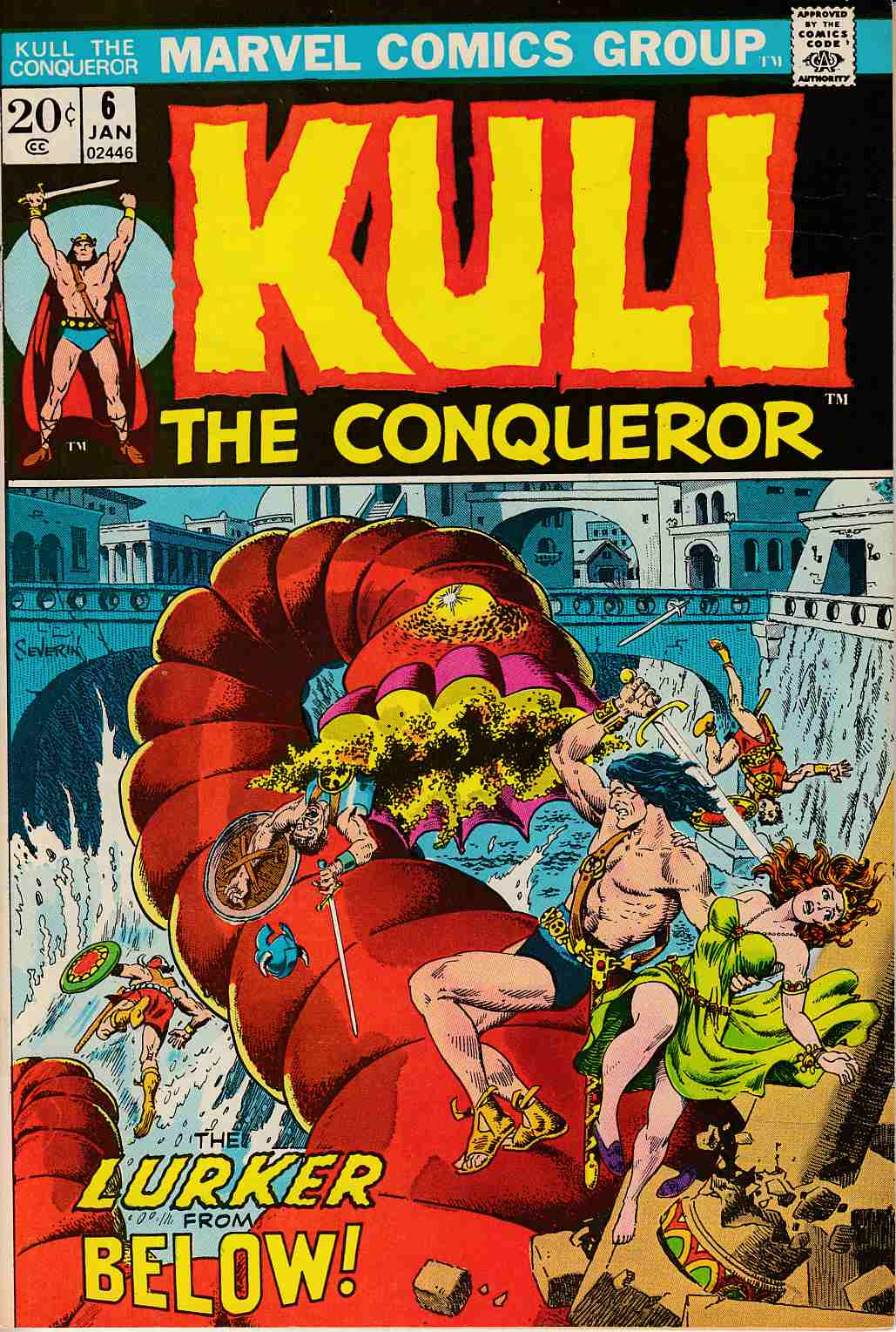 Kull The Conqueror #6 Very Fine Minus (7.5) [Marvel Comic] LARGE