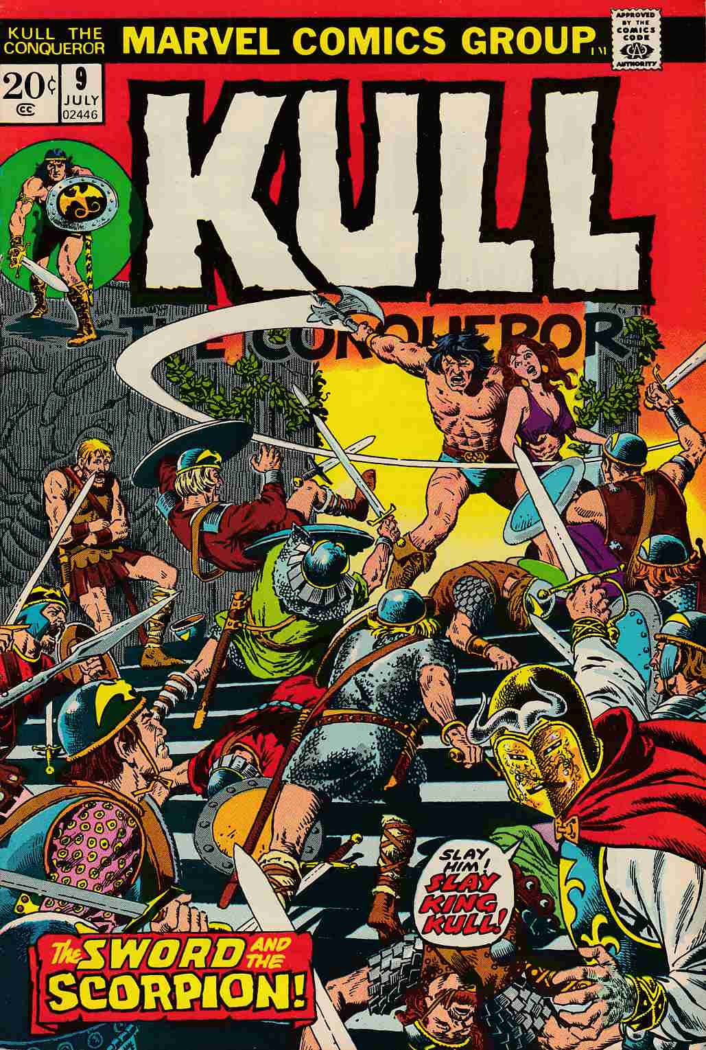 Kull The Conqueror #9 Good/Very Good (3 0) [Marvel Comic]