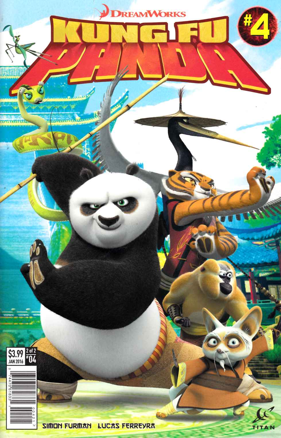 Kung Fu Panda #4 Subscription Photo Cover [Titan Comic] THUMBNAIL
