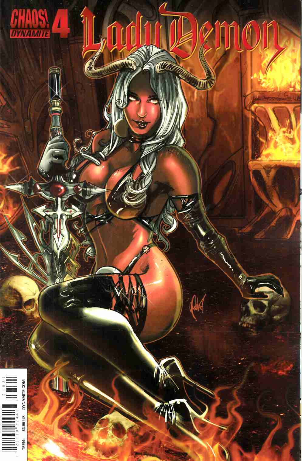 Lady Demon #4 Cover B- Poulat Bombshell [Dynamite Comic] LARGE