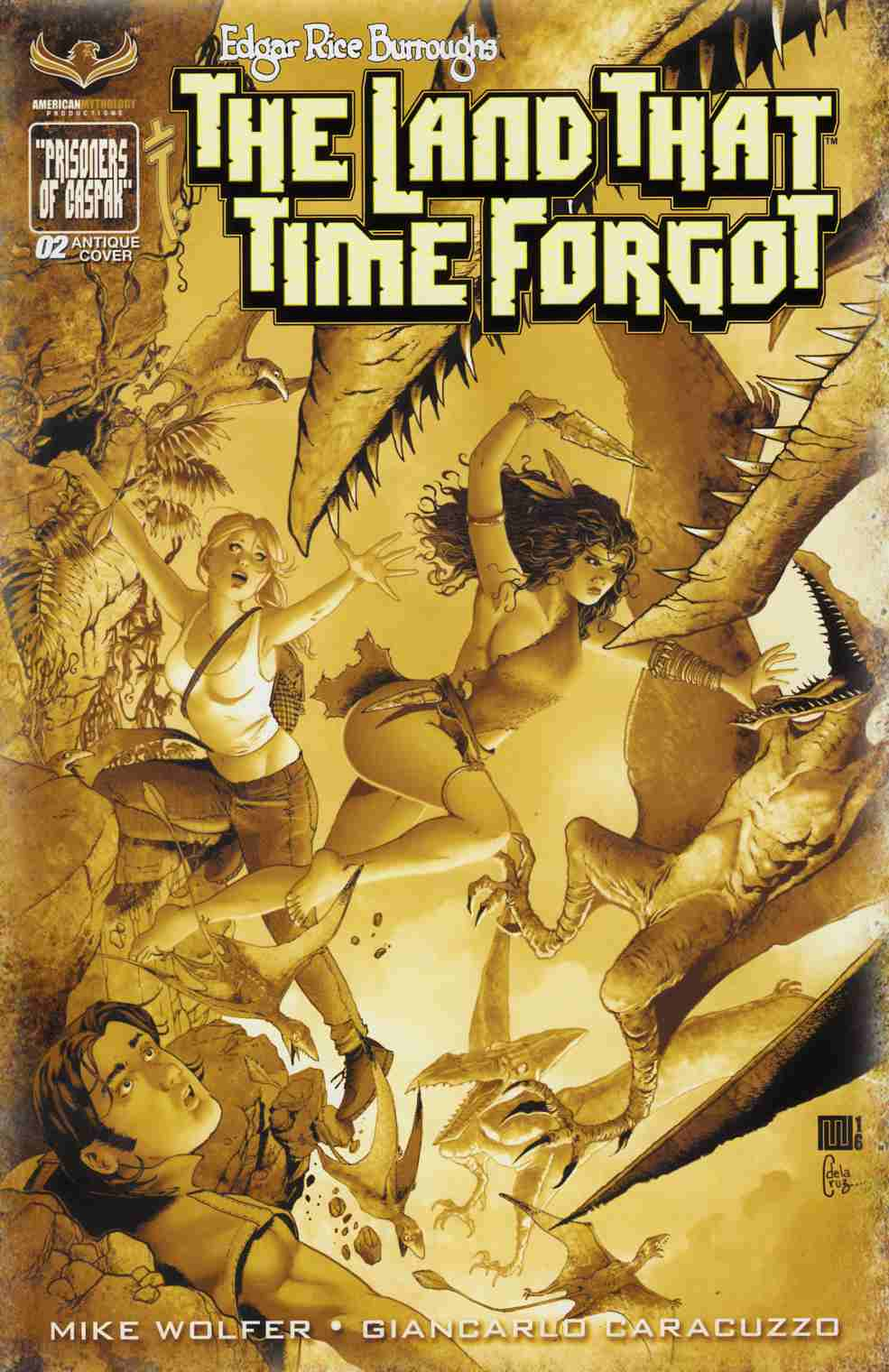 ERB Land That Time Forgot #2 Wolfer Incentive Cover [American Mythology Comic] LARGE