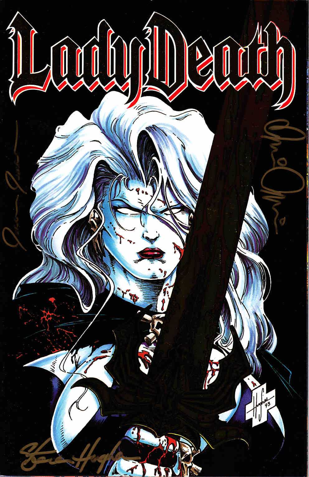 Lady Death #1 Gold Commemorative Signed Edition [Chaos Comic] THUMBNAIL